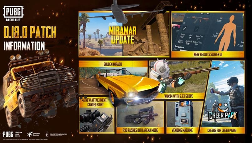 PUBG MOBILE Update 0.18.0 details and patch notes released