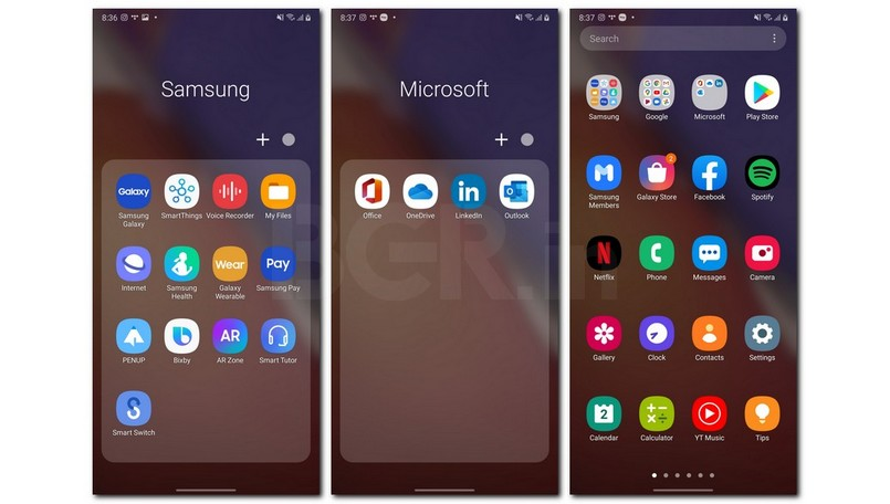 One UI 2.5 Pre-installed apps Note 20 Ultra 5G
