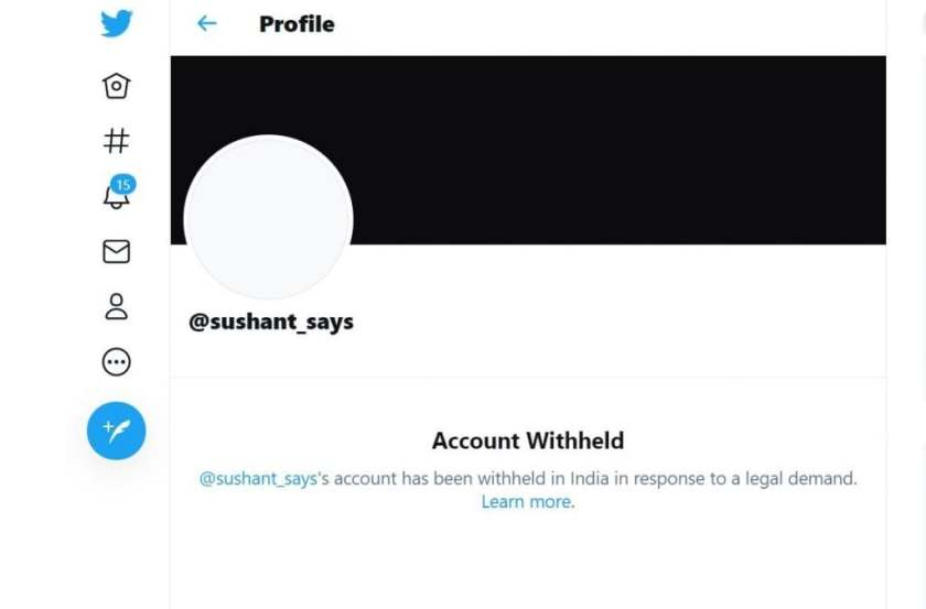Twitter account withheld