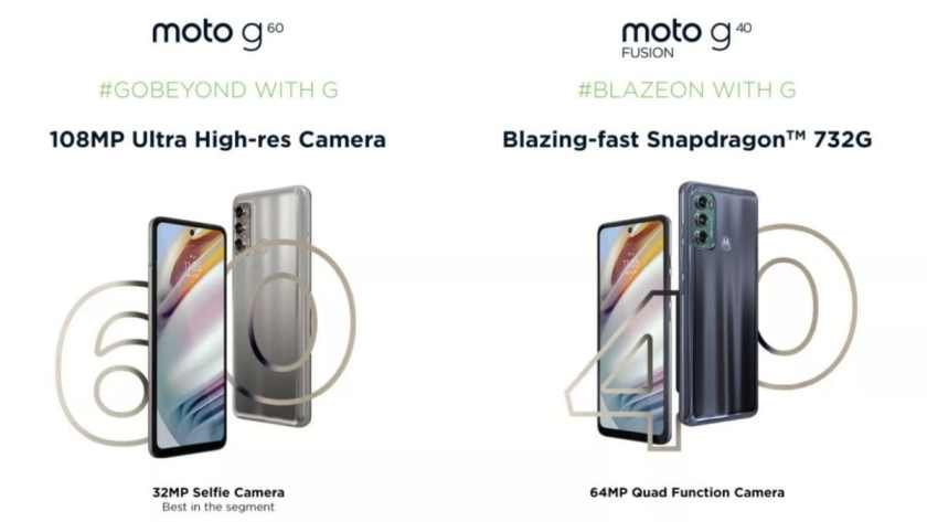moto g60 moto g40 fusion india launch april 20, moto g60 108mp camera, moto g40 fusion 64mp camera, moto g60 moto g40 fusion flipkart launch, moto g60 specs, motog60 price in india, moto g40 fusion price in india, moto g40 fusion specs, motorola india