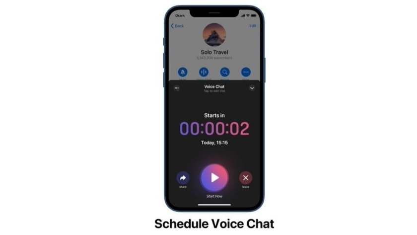 schedule voice chats