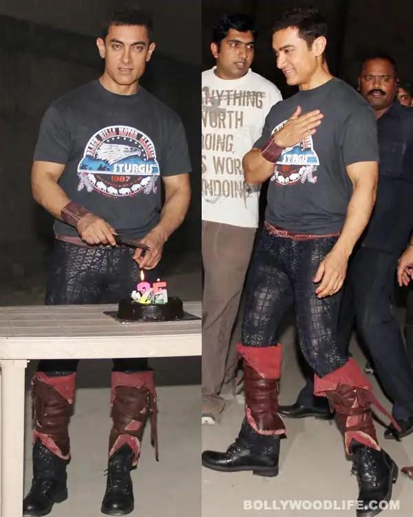 Aamir Khan sports a weird style at the QSQT celebration event