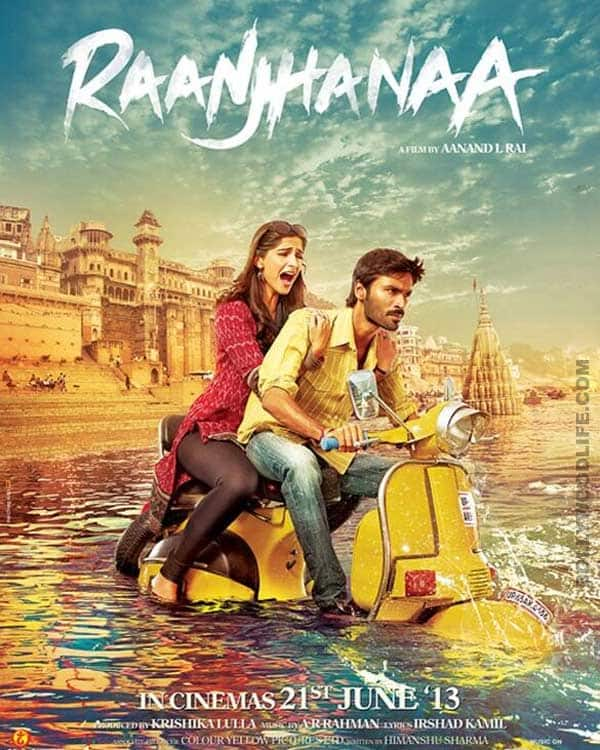 Raanjhanaa new poster: Sonam Kapoor and Dhanush in deep waters