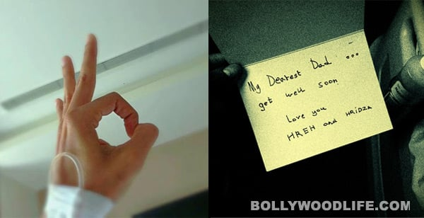 Hrithik Roshan gets a cute get well soon card from sons Hrehaan andHridhaan
