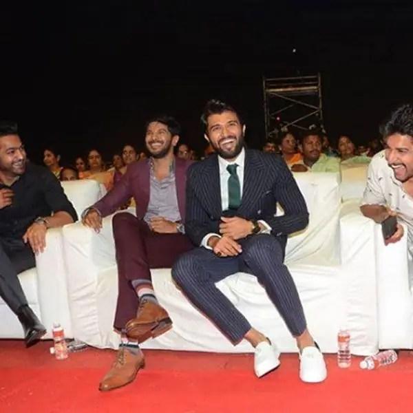 When Vijay Deverakonda shared the moment with his favourite men Dulquer Salmaan, Jr NTR and Nani 7
