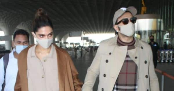 Ranveer Singh and Deepika Padukone slay their airport looks as they leave for a holiday — view PICS and VIDEO