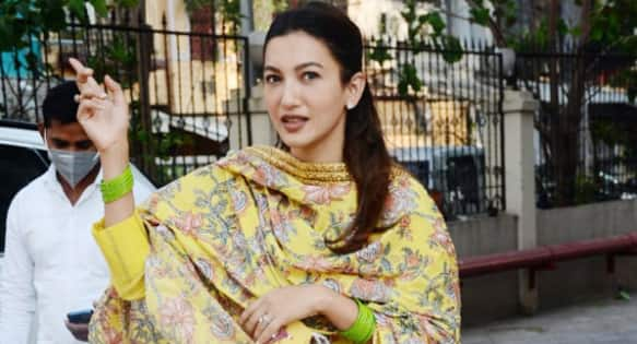 Gauahar Khan promises 'Shaadi Ka Mithai' to the paparazzi as she is clicked leaving for pre-wedding functions — watch video