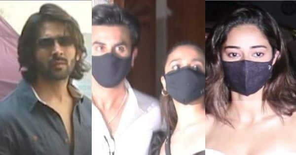 Bollywood News – Spotted: Kartik Aaryan rides a bike, Ananya Panday is a vision in white, Ranbir Kapoor and Alia Bhatt party together