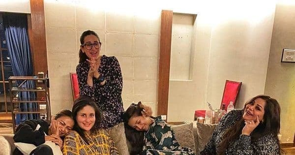 Pregger Kareena Kapoor Khan spends a girl night out with BFFs Karisma Kapoor, Malaika Arora, Amrita Arora