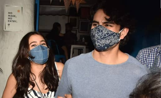 Sara Ali Khan and brother Ibrahim get mobbed as they step out of a Bandra eatery — view pics