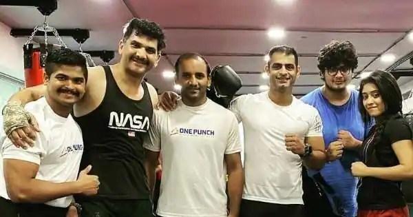 Shivangi Joshi and co-stars Ali Hasan, Anmol, Apoorv Jyotir pose for pictures post workout
