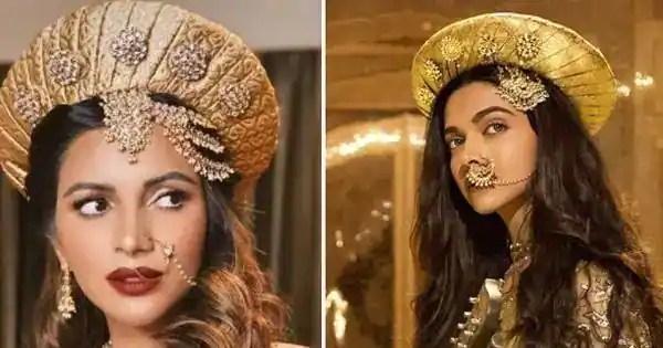 Shama Sikander copies Deepika Padukone's 'Mastani' style