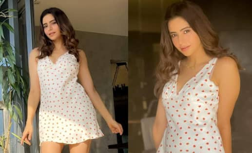 Aamna Sharif's short printed dress is summer chic – view pics