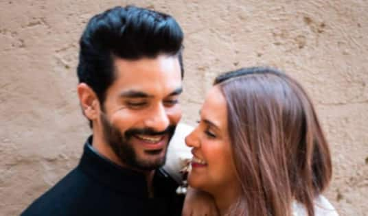 Angad Bedi and Neha Dhupia complete three years of married life; let us rewind to some of their beautiful clicks