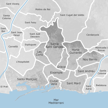 Mapa de Barcelona habitaciones en alquiler  idealista