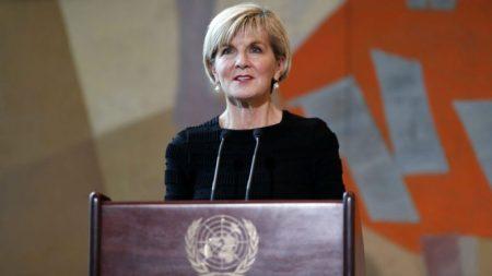 Image result for Australian Foreign Minister Julie Bishop Resigns