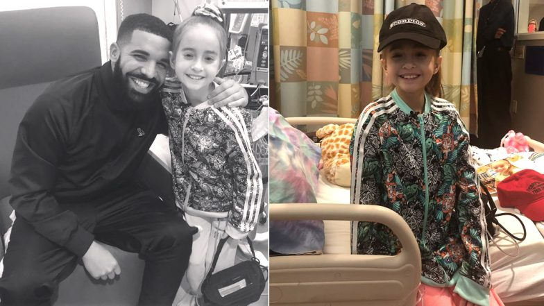 wheelchair drake positive posture massage chair reviews visits 11 year old fan whose kiki challenge from hospital went viral