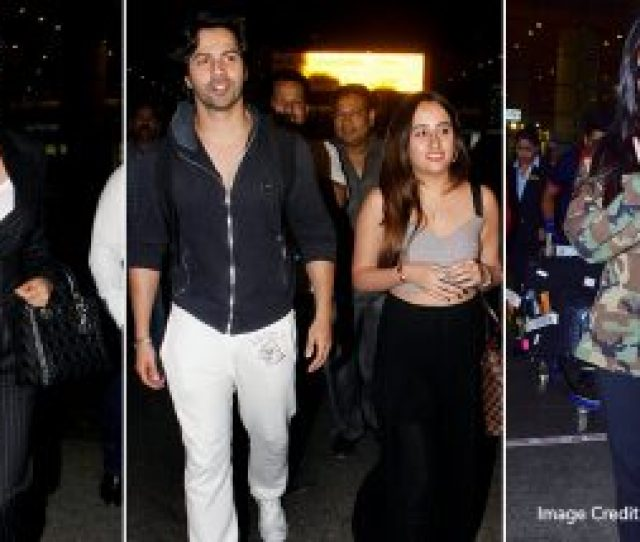 Celebrity Airport Style  Sara Ali Khan Varun Dhawan Katrina Kaif And Other