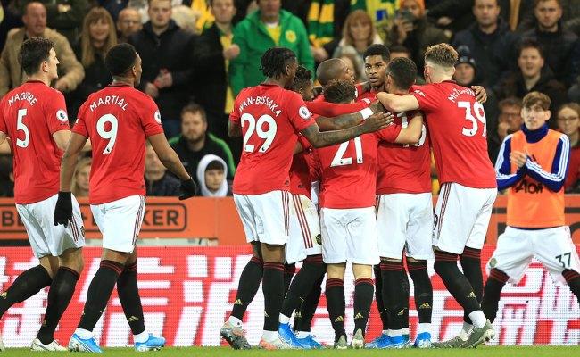 Manchester United Vs Norwich City Premier League 2019 20