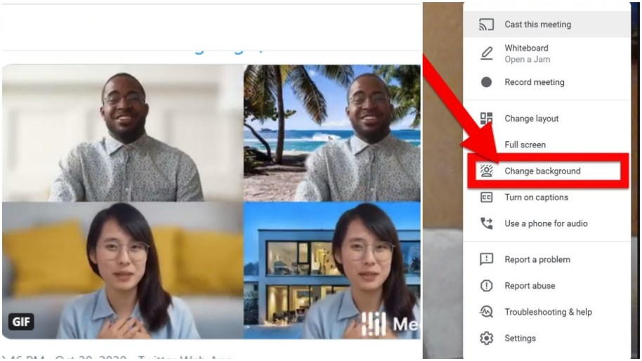 Step by step guide: How to change your google meet background