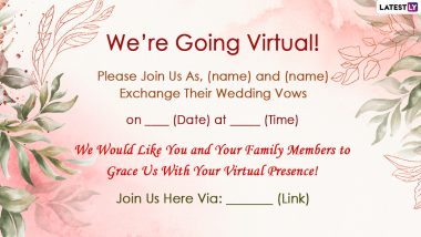 https www latestly com lifestyle festivals events virtual wedding invitation card format with messages free photos and text format to invite guests for your marriage ceremonies in 2020 2021 2166188 html
