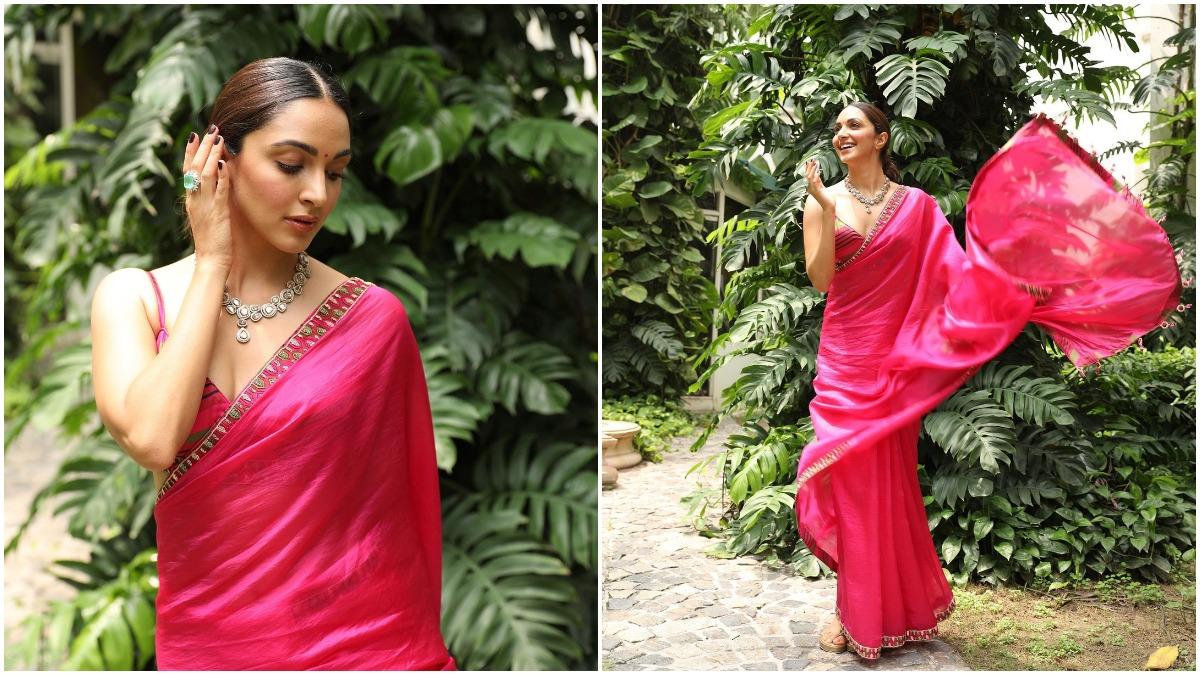 Kiara Advani's Pink Punit Balana Saree is Perfect For Raksha Bandhan  Celebration (View Pics)   👗 LatestLY