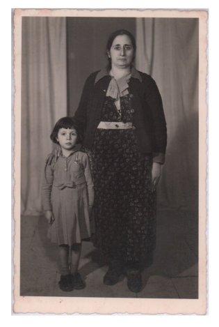 Anne ve Kızı Eski Fotokart KRT6287 - - Diğer Kartpostallar