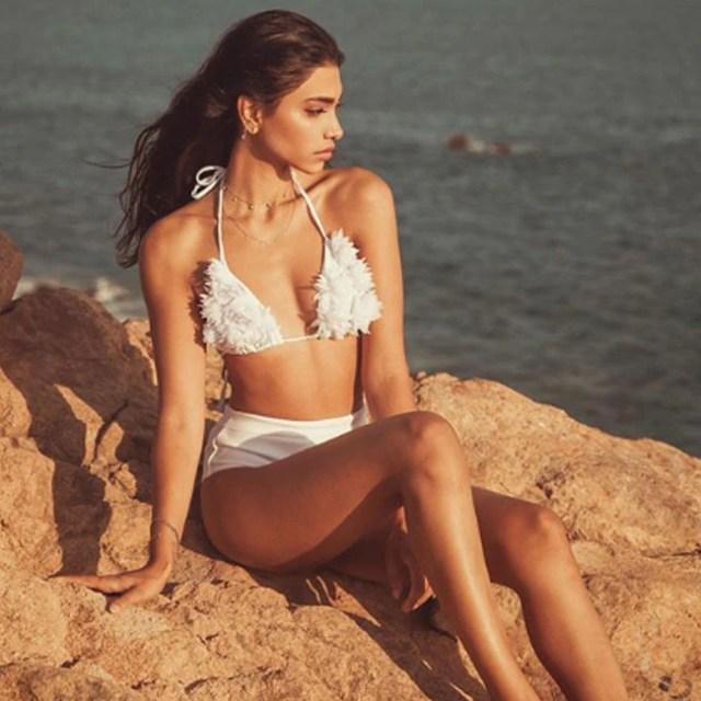 Alanna Panday in White Bikini