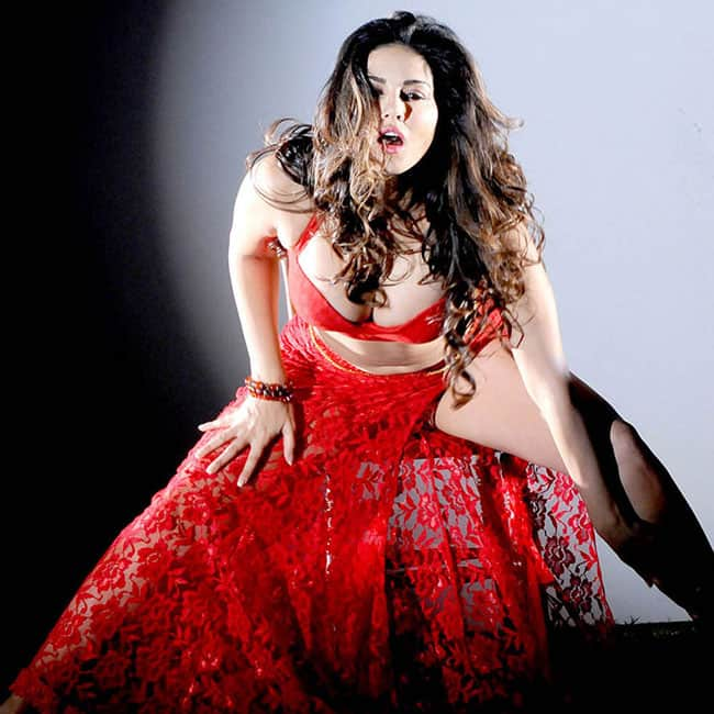 Sunny Leone poses for a red hot picture