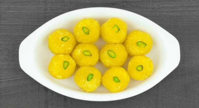bright yellow sweets
