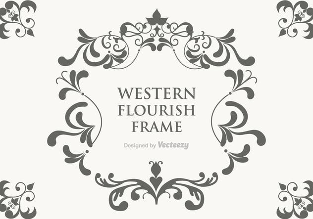 Free Vector Western Flourish Frame Kostenloser Vektor