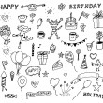 SET OF BIRTHDAY DOODLES. — Stock Vector © azzzya #2806106