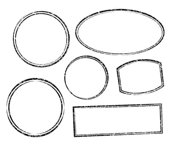 Set 9 rubber stamp template — Stock Vector © antonshpak