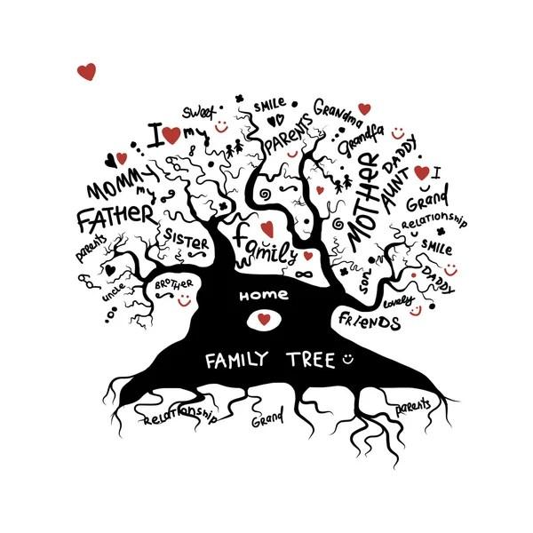 Duże drzewo genealogiczne — Grafika wektorowa © Kakigori