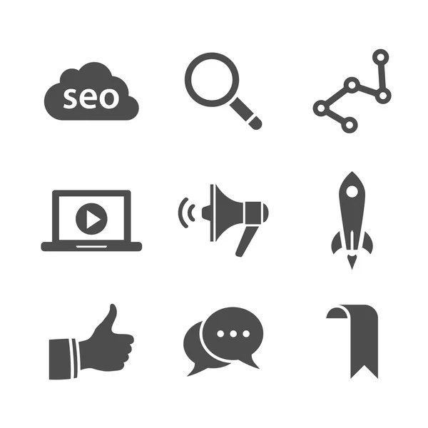 Search engine optimization icon set — Stock Vector