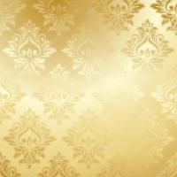 Luxury golden floral wallpaper  Stock Vector