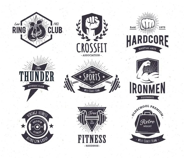 Vintage Fitness Club poster — Stock Vector © Donnay #30173801