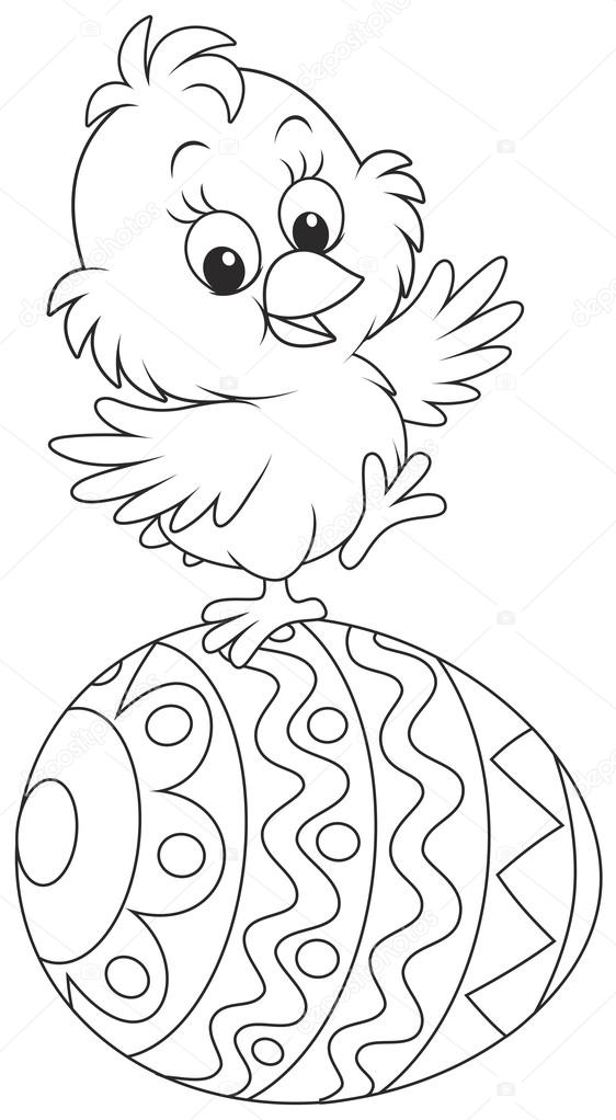 Easter Chick Drawing : easter, chick, drawing, Easter, Chick, Vector, Image, AlexBannykh, Stock, 64730505