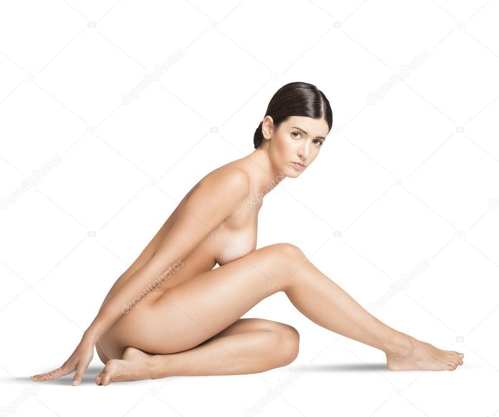 beautiful naked girl sitting  Stock Photo  alphaspirit