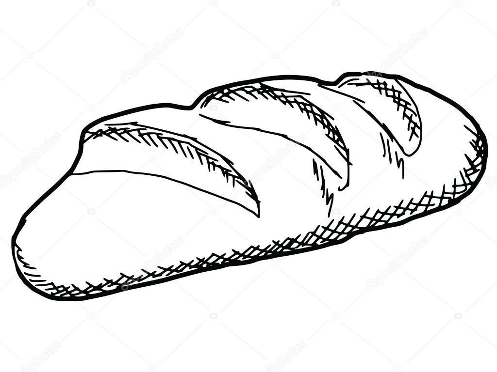 long loaf — Stock Vector © Perysty #62132993