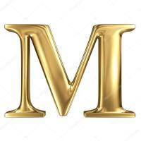 Dourado letra m  Fotografias de Stock  smaglov #54959425