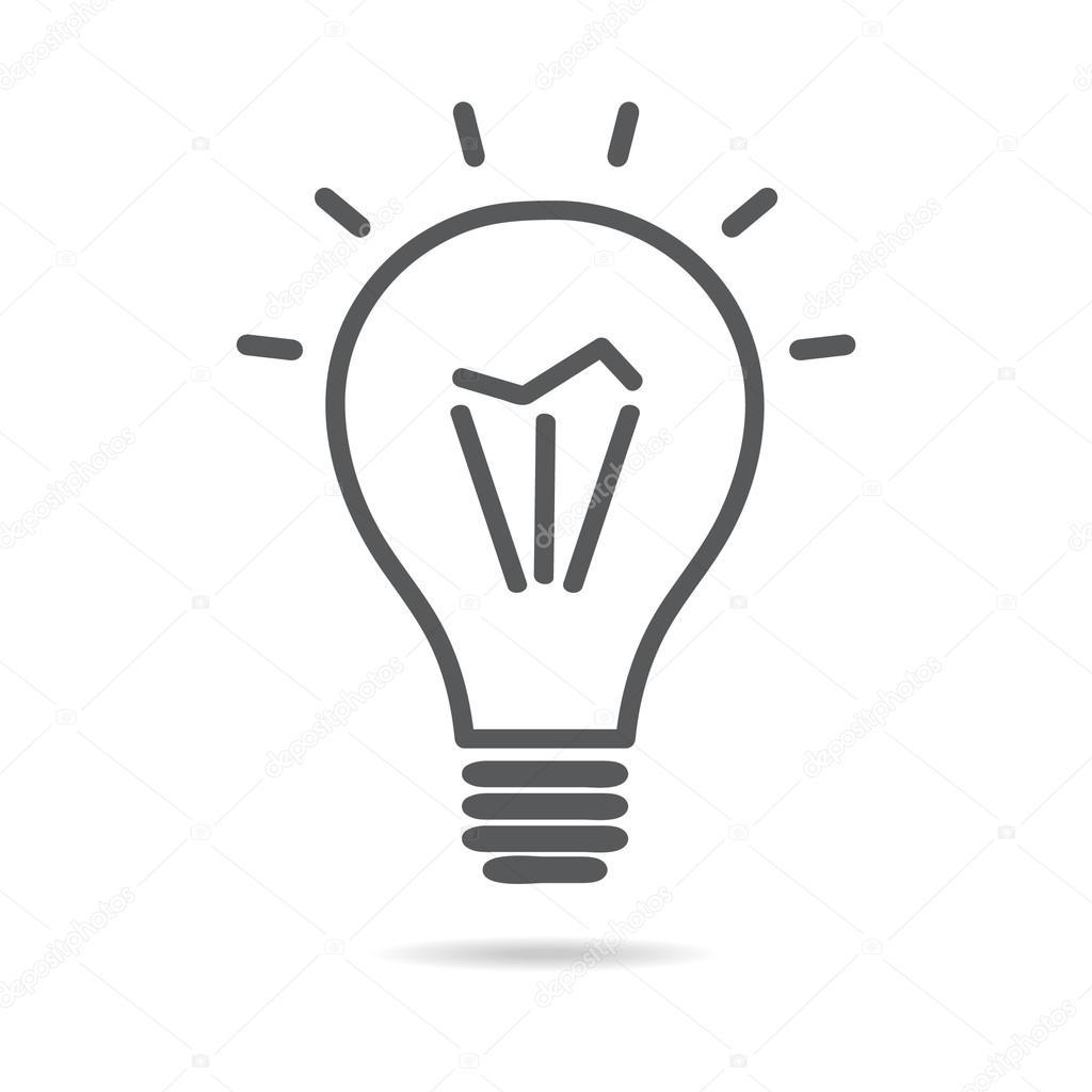 Ampul Elektrik Vektor Simgesi