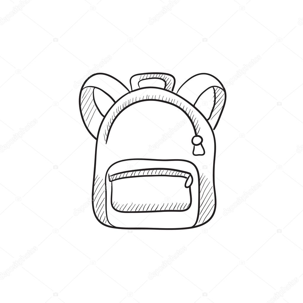 Backpack Sketch Icon