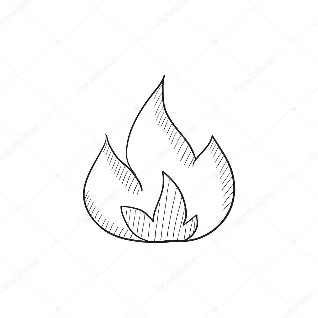 Fire Sketch Icon