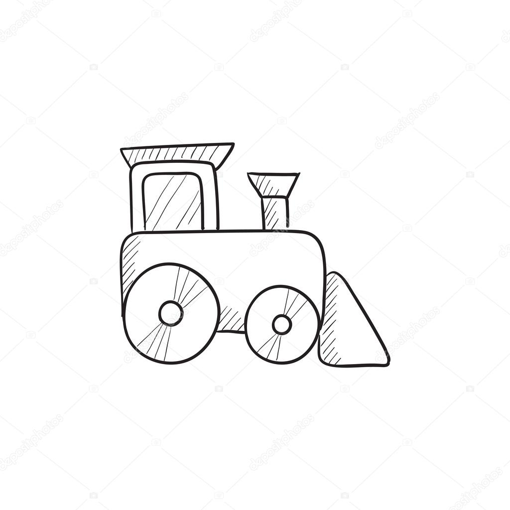 Toy Train Sketch Icon