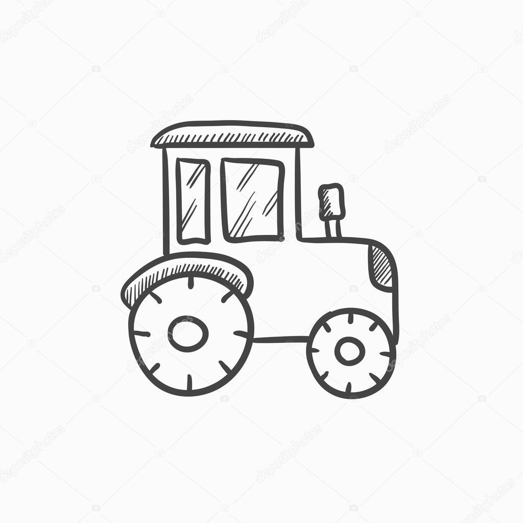 Tractor Sketch Icon