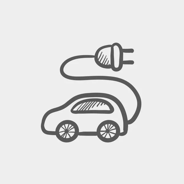 Elektroauto-Skizze-Symbol — Stockvektor © rastudio #142926857