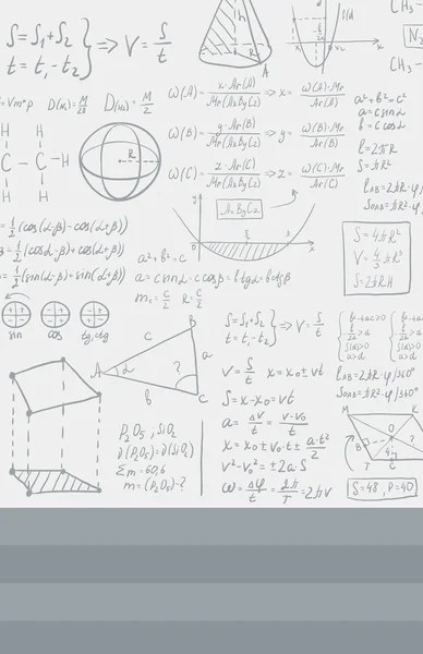 Efecto de dibujo de la tiza. Fórmulas matemáticas y