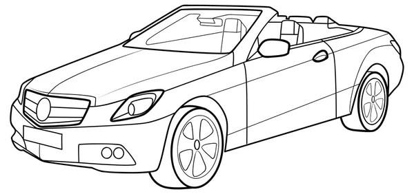 Race Auto Kleurplaat