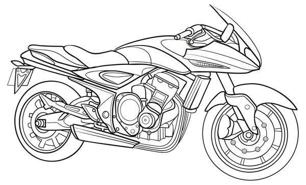 szkic motocykl — Grafika wektorowa © Kopirin #58287635